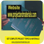 free project topics and materials pdf & ms word