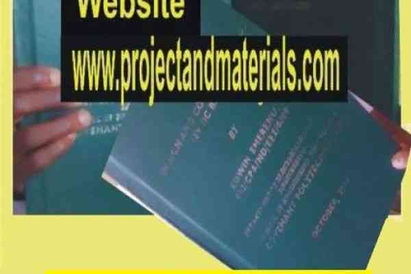 List of free Project topics and MATERIALS PDF & DOC