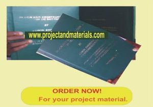 project topics and materials